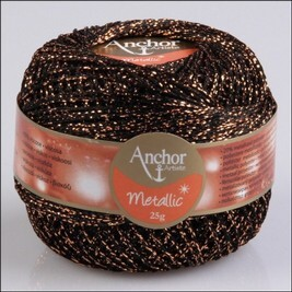 Anchor metallic horgolócérna 25g - színkód: 316 Brown